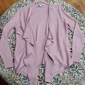 The Loft Open Front Pink Cardigan Sz Medium Petite